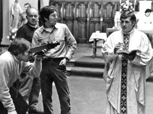 William Friedkin, Owen Roizman, and Jason Miller in The Exorcist (1973) l'esorcista