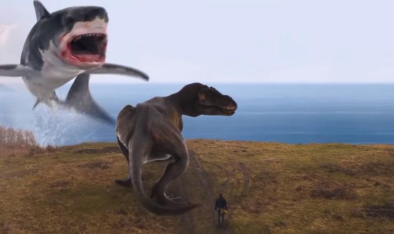 Nel full trailer di The Last Sharknado si viaggia nel tempo tra T-Rex e saloon del vecchio West