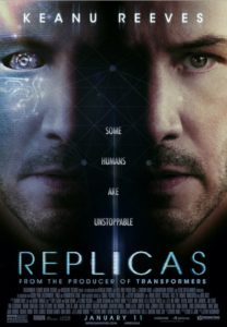 Replicas keanu reeves film poster