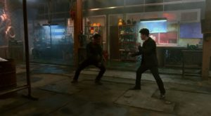 Joe Taslim and Iko Uwais in The Night Comes for Us (2018)