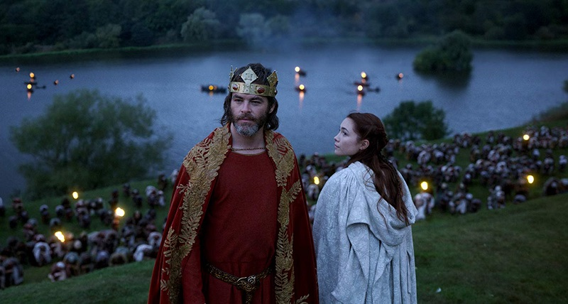 Chris Pine and Florence Pugh in Outlaw King re fuorilegge (2018) netflix