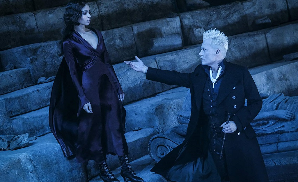 Johnny Depp and Zoë Kravitz animali fantastici crimini Grindelwald (2018)