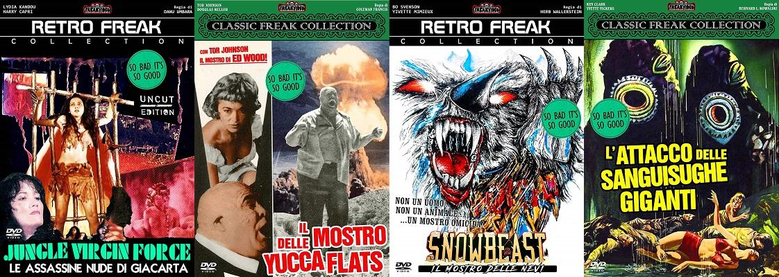 Jungle Virgin Force + Il Mostro Delle Yucca Flats + Snowbeast + L'Attacco Delle Sanguisughe Giganti dvd