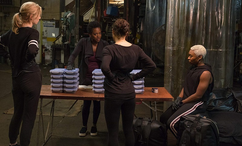 Viola Davis, Elizabeth Debicki, and Cynthia Erivo in Widows eredità (2018)