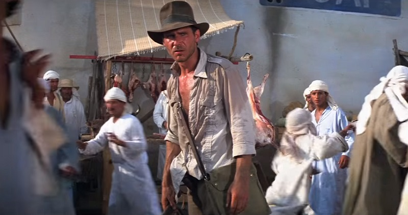 harrison ford indiana jones duello