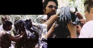 predator 1987 film set test costume