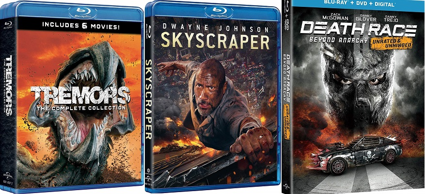 Blu-ray Skyscraper Tremors Collection Death Race Anarchia