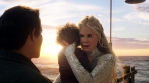 Nicole Kidman, Temuera Morrison, Tamor Kirkwood e Tainui Kirkwood in Aquaman (2018)