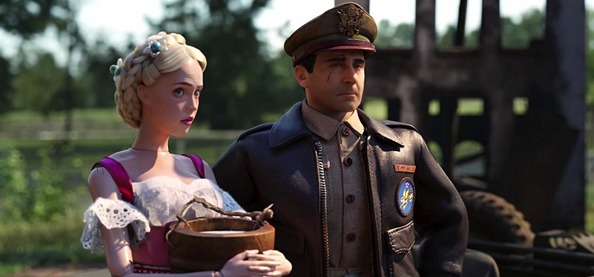 Steve Carell e Siobhan Williams in Benvenuti a Marwen