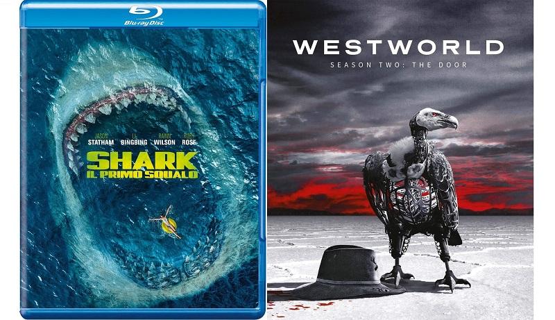 shark primo squalo + westworld stagione 2 blu-ray