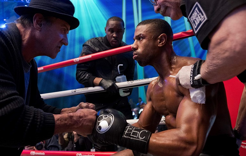 Sylvester Stallone, Wood Harris e Michael B. Jordan in Creed II (2018)