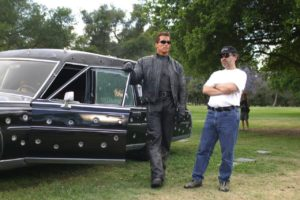 Arnold Schwarzenegger and Jonathan Mostow in Terminator 3