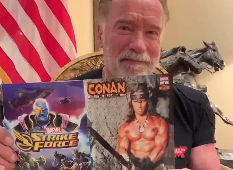 Arnold Schwarzenegger vecchio conan