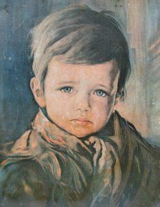 I bambini piangenti di Giovanni Bragolin - quadri maledetti