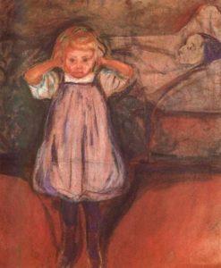 La madre morta di Edvard Munch - quadri maledetti