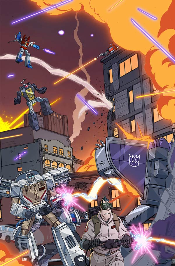ghostbusters transformers fumetto