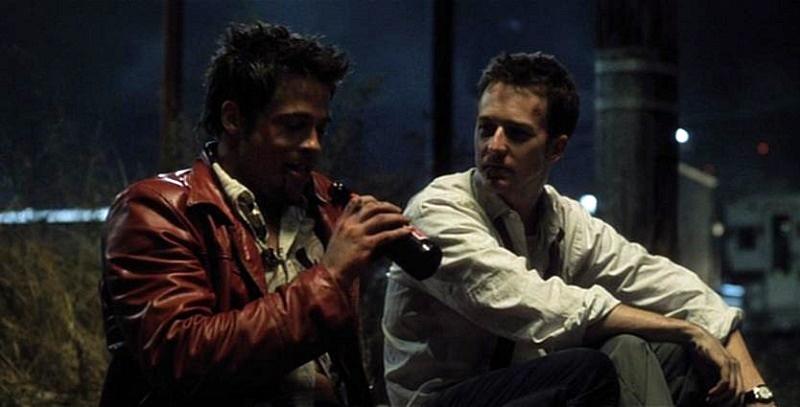 Brad Pitt e Edward Norton in Fight Club (1999)