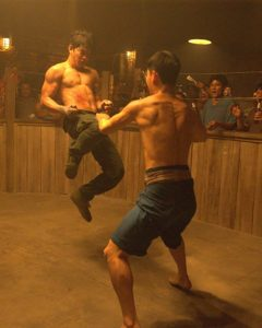 Tiger Chen and Iko Uwais in Triple Threat (2019)