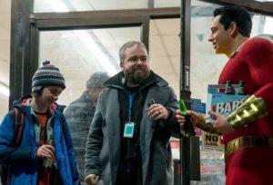 Zachary Levi, David F. Sandberg e Jack Dylan Grazer in Shazam! (2019)