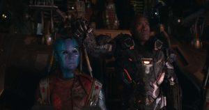 Don Cheadle e Karen Gillan in Avengers Endgame (2019)