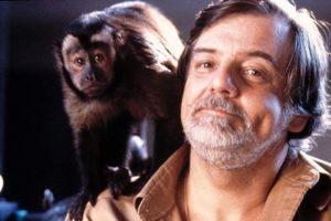 George A. Romero and Boo in Monkey Shines (1988)