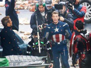 Robert Downey Jr., Chris Evans, Paul Rudd e Mark Ruffalo in Avengers Endgame (2019)