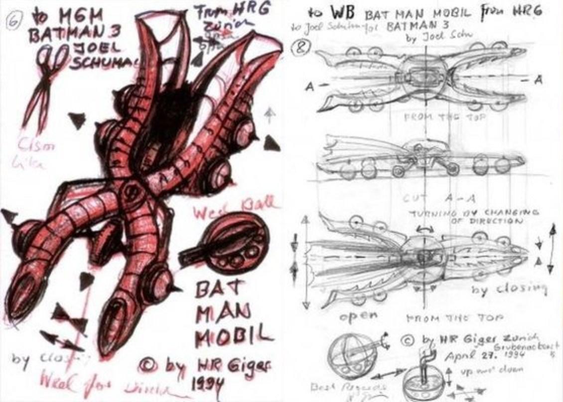 H.R. Giger Batmobile per Batman Forever 3
