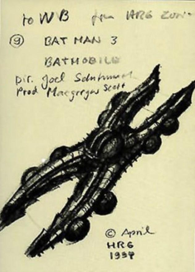 H.R. Giger Batmobile per Batman Forever 4