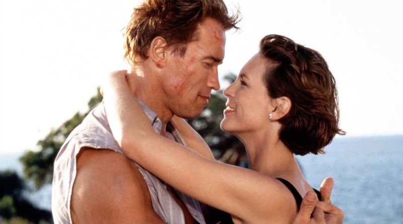 Jamie Lee Curtis e Arnold Schwarzenegger in True Lies (1994) film