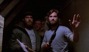 Kurt Russell, Richard Masur e Donald Moffat in La Cosa (1982)