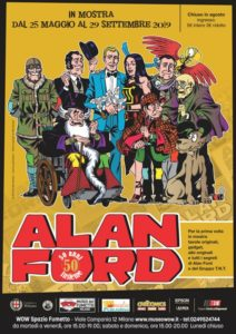 Locandina Mostra Alan Ford. 50 anni insieme