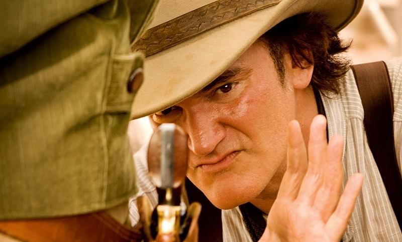 Quentin Tarantino in Django Unchained (2012) set