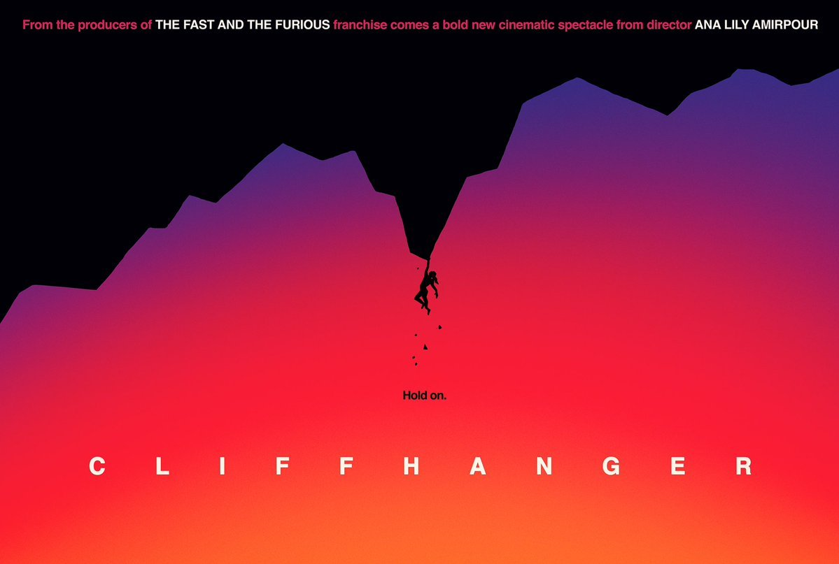 cliffhanger film 2019 poster Ana Lily Amirpour