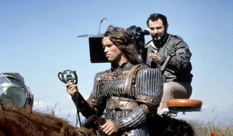 Arnold Schwarzenegger e John Milius in Conan il barbaro (1982)