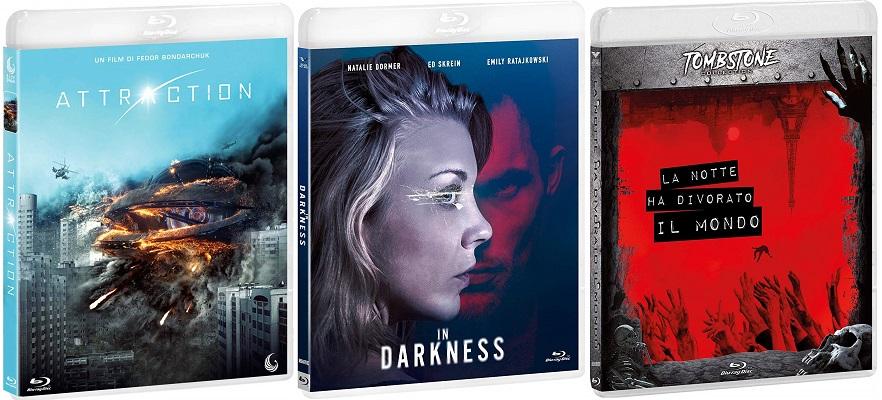 Blu-ray In Darkness + Attraction + La notte ha divorato il mondo
