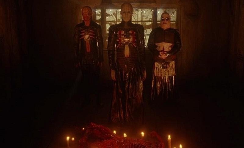 Simon Bamford, Doug Bradley e Nicholas Vince in Hellraiser (1987)