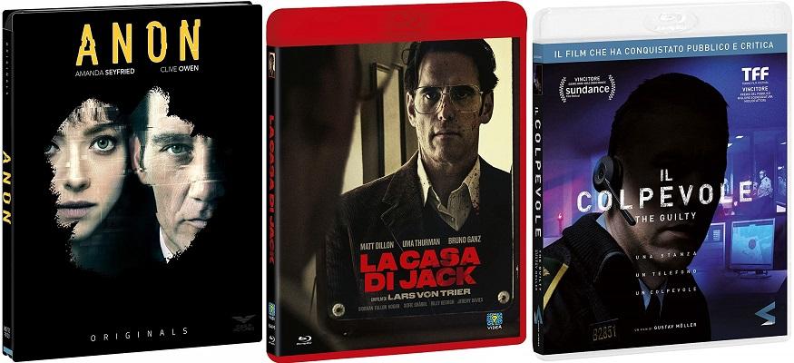 Blu-ray La casa di Jack + Anon + Il Colpevole - The Guilty