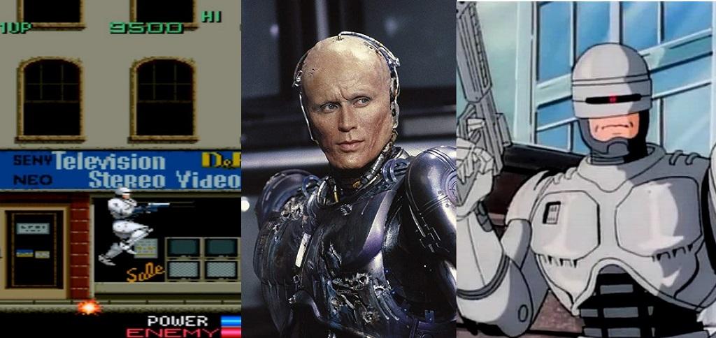 robocop saga film videogames tv