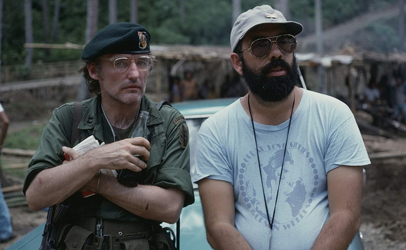 Francis Ford Coppola e Dennis Hopper in Apocalypse Now (1979)