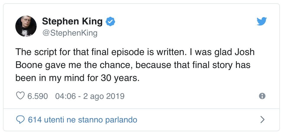 Tweet Stephen King