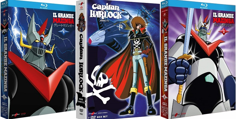 il grande mazinga e capitan harlock dvd blu-ray