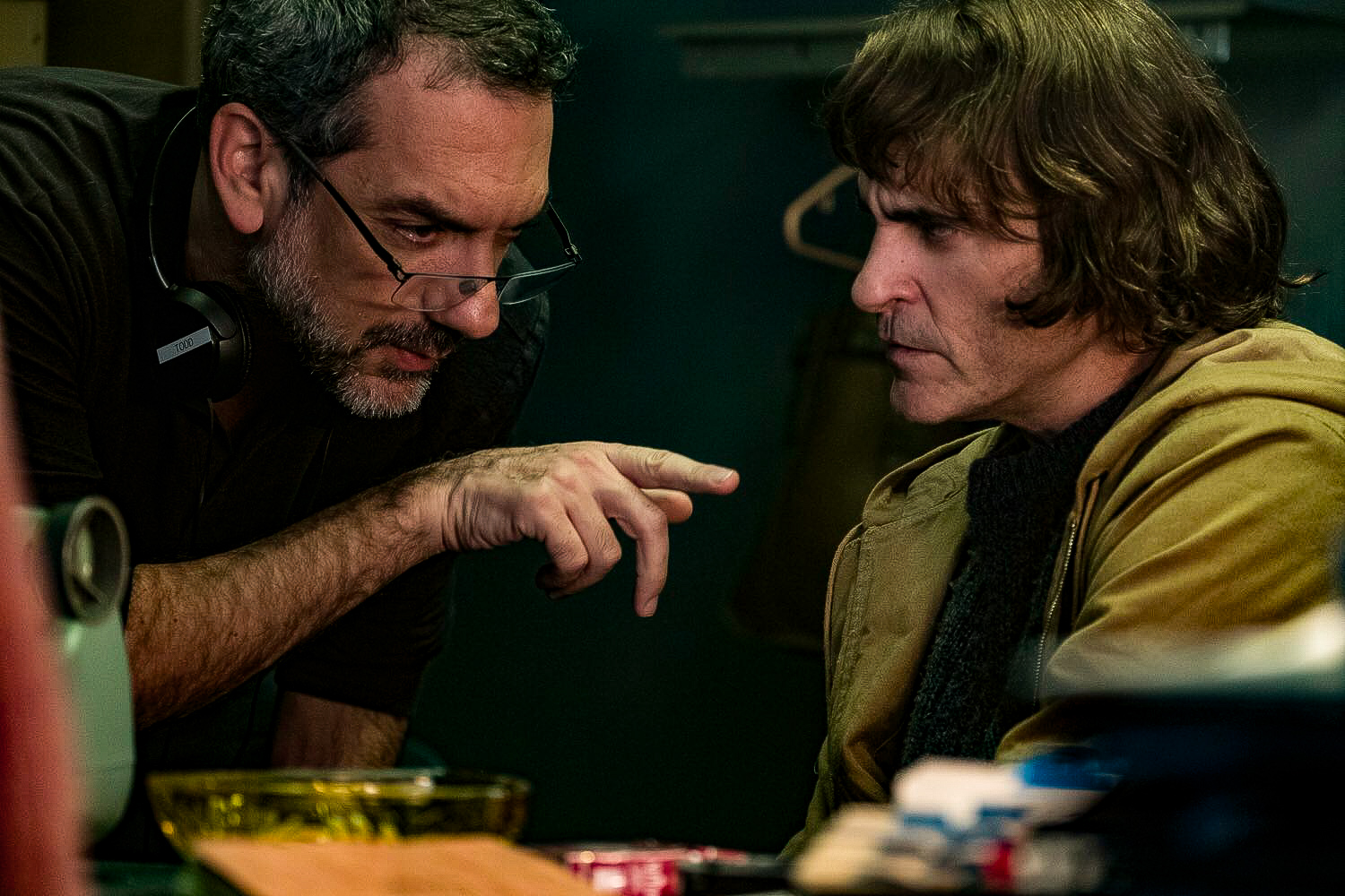 Joaquin Phoenix e Todd Phillips in Joker (2019)