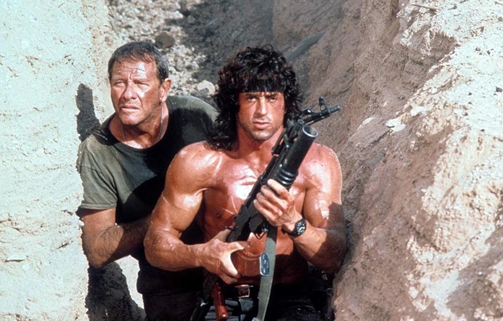Sylvester Stallone e Richard Crenna in Rambo III (1988)