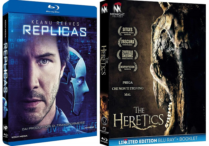 replicas e the heretics blu-ray ita
