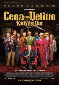 CENA CON DELITTO - KNIVES OUT film poster ita
