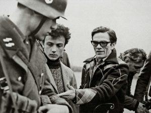 Pier Paolo Pasolini in Salò o le 120 giornate di Sodoma (1975) set