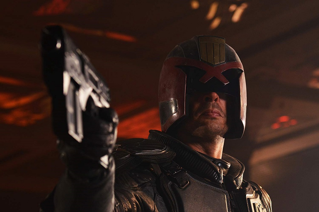 Karl Urban in Dredd (2012) film