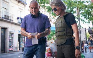 Linda Hamilton e Tim Miller in Terminator Destino Oscuro