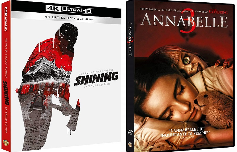 shining versione estesa + annabelle 3 home video