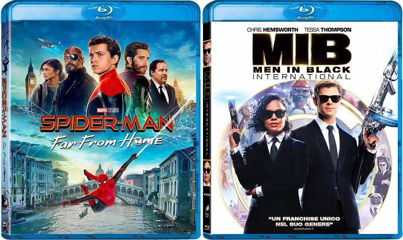 spider-man far from home + men in black international bluray
